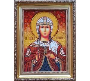 Варвара - именная икона из янтаря (ар-233)
