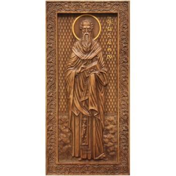 Василий Великий - резная икона из натурального дерева (р-28)