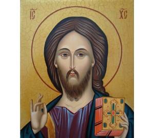 Великолепная писаная икона Спаситель (Гр-16)