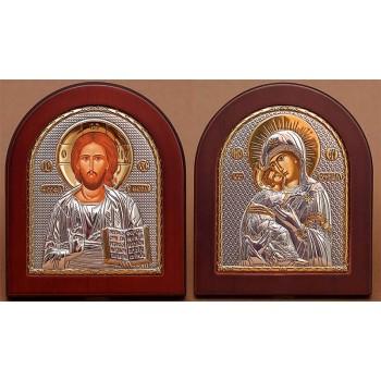 Вінчальна пара ікон Ісус і Володимирська Богородиця (EK5-007XAG)