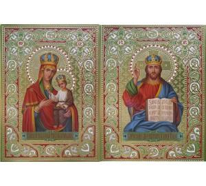 Венчальная пара икон с иконой Божией Матери Черниговская (Дм-22)