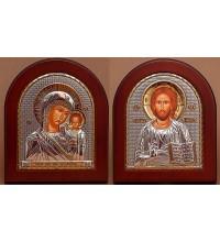 Венчальная пара Спаситель и Казанская Богородица (GOLD)