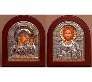 Вінчальна пара Спаситель і Казанська Богородиця (GOLD)