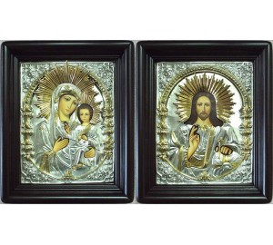 Венчальные иконы Божия Матерь Смоленская и Господь Вседержитель (Хм-42)