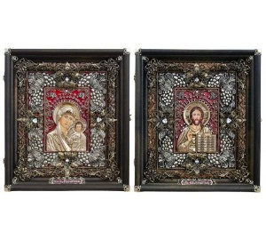 Вінчальні ікони Ісус Христос і Божа Матір Казанська (Ос-13)