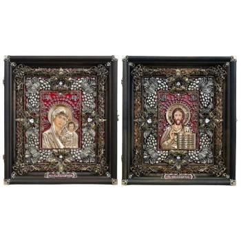 Венчальные иконы Иисус Христос и Божья Матерь Казанская (Ос-13)