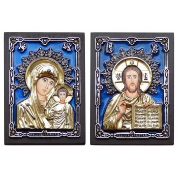 Венчальные иконы Иисус Христос и Божья Матерь Казанская (Ос-С6Р)