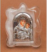 Віфлеємська Богородиця - витончена Красива ікона в муранском склі, срібло, позолота (EK1MAG Віфлеємська)