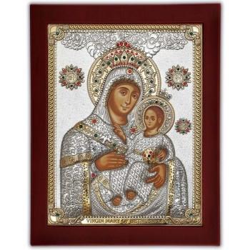 Вифлеемская Богородица - Икона инкрустирована кристаллами Сваровски  (CLASSIC Stone)