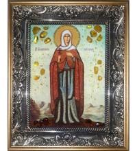Вікторія Ефеська - ікона ручної роботи з бурштину (ар-276)