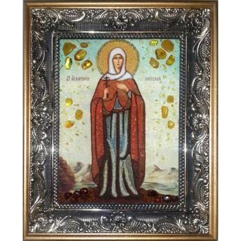 Виктория Эфесская - икона ручной работы из янтаря (ар-276)