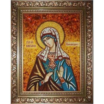 Виктория Никомидийская - икона ручной работы из янтаря (ар-57)