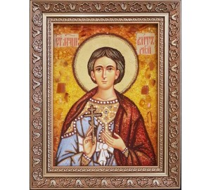 Вит Римский - икона из янтаря (ар-363)
