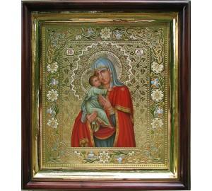 Владимирская икона Божьей Матери - писаная икона (Дм-17)