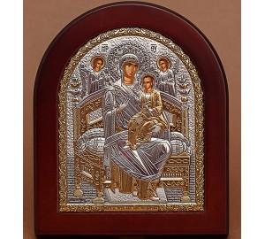 Всецариця - Грецька ікона з сріблом та позолотою (GOLD)