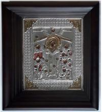Всех Скорбящих Радость - икона с серебром (хм-51)
