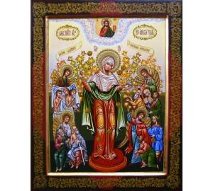 Всех Скорбящих Радость - Писаная Икона Божией Матери (Гр-34)