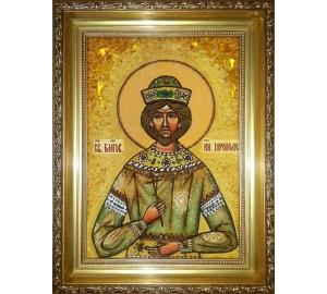 Ярополк - именная икона из янтаря (ар-297)