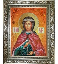 Юлия Карфагенская - Красивая именная икона из янтаря (ар-242)