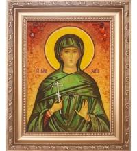 Злата - Качественная именная икона из янтаря (ари-28)