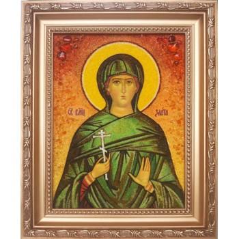 Злата - Якісна іменна ікона із бурштина (арі-28)