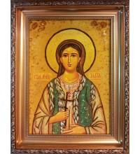 Злата Могленская - именная икона из янтаря (ар-240)