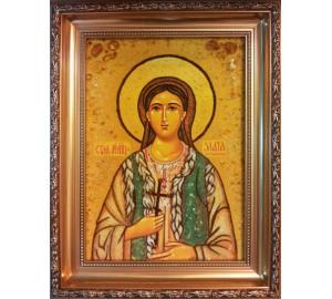 Злата Могленская - іменна ікона з янтаря (ар-240)