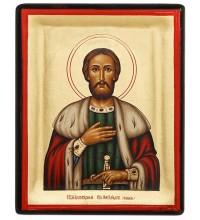 Александр Невский - греческая икона на дереве (АН - М1)
