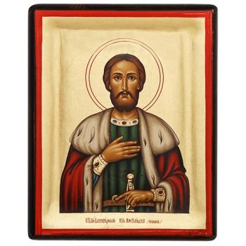 Олександр Невський - грецька ікона на дереві (АН - М1)