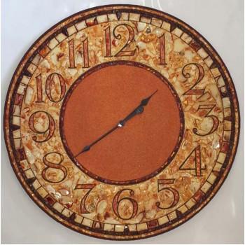 Часы из янтаря, настенные янтарные часы купить