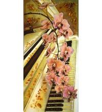 Фортепиано - картина из янтаря (rb-25)