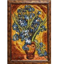 Іриси - картина з бурштину (rb-05)