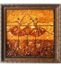 Картина з бурштинової мозаїки Балерини (rb-29)
