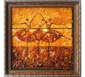 Картина из янтарной мозаики Балерины (rb-29)