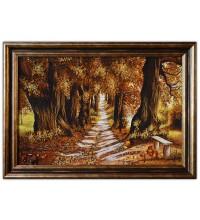 Картина з бурштину Дуби восени (rb-07)