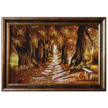 Картина из янтаря Дубы осенью (rb-07)