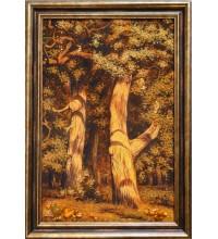 Картина з бурштину Дуби (rb-18)