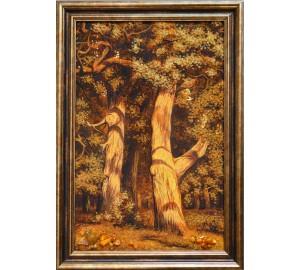 Картина из янтаря Дубы (rb-18)