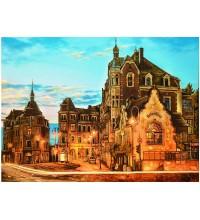 Картина из янтаря Городской пейзаж (rb-12)