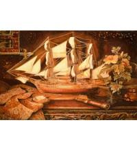 Картина з бурштину Кораблик (rb-16)