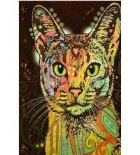 Картина з бурштину Кіт (rb-19)