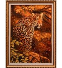 Картина з бурштину Леопард (rb-31)