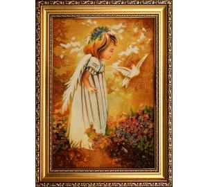 Картина из янтаря Маленький ангелочек (rb-27)