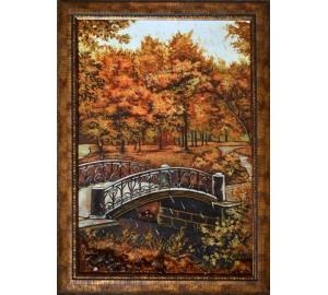 Картина из янтаря Парковый пейзаж (rb-04)