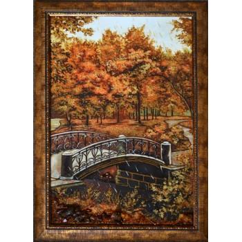 Картина з бурштину Парковий пейзаж (rb-04)