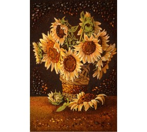Картина из янтаря подсолнухи (rb-11)