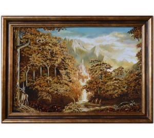 Картина из янтаря с прородой (rb-24)