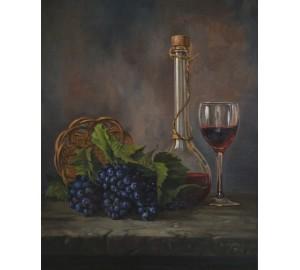 Картина Натюрморт з виноградом (сч-28)