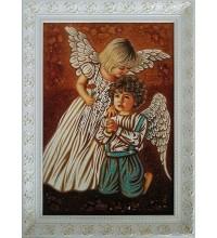 Картина з бурштином Маленькі янголята (rb-36)
