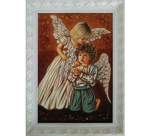 Картина с янтарем Маленькие ангелочки (rb-36)